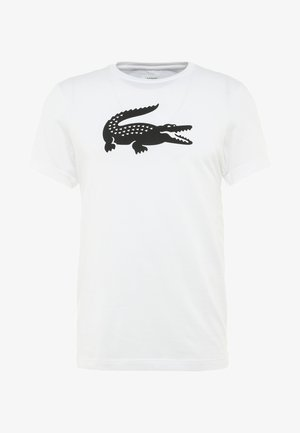 BIG LOGO - T-Shirt print - white/black