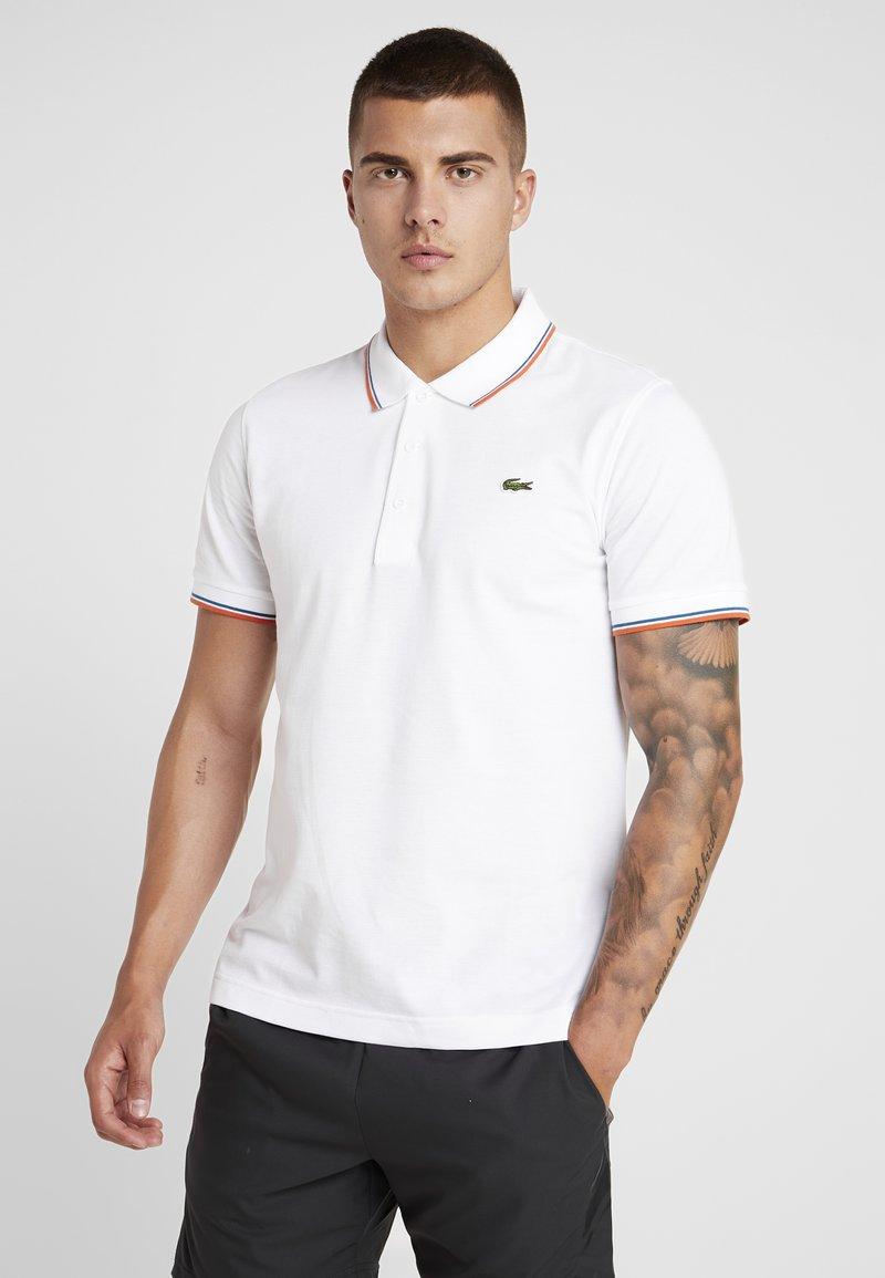 Lacoste Sport - KURZARM - Polo shirt - white/geranium