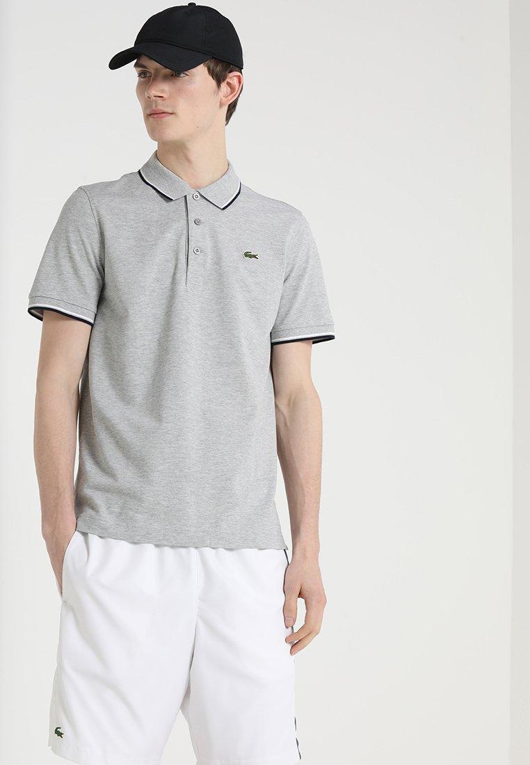 Lacoste Sport - KURZARM - Poloshirt - silver chine/navy blue/white