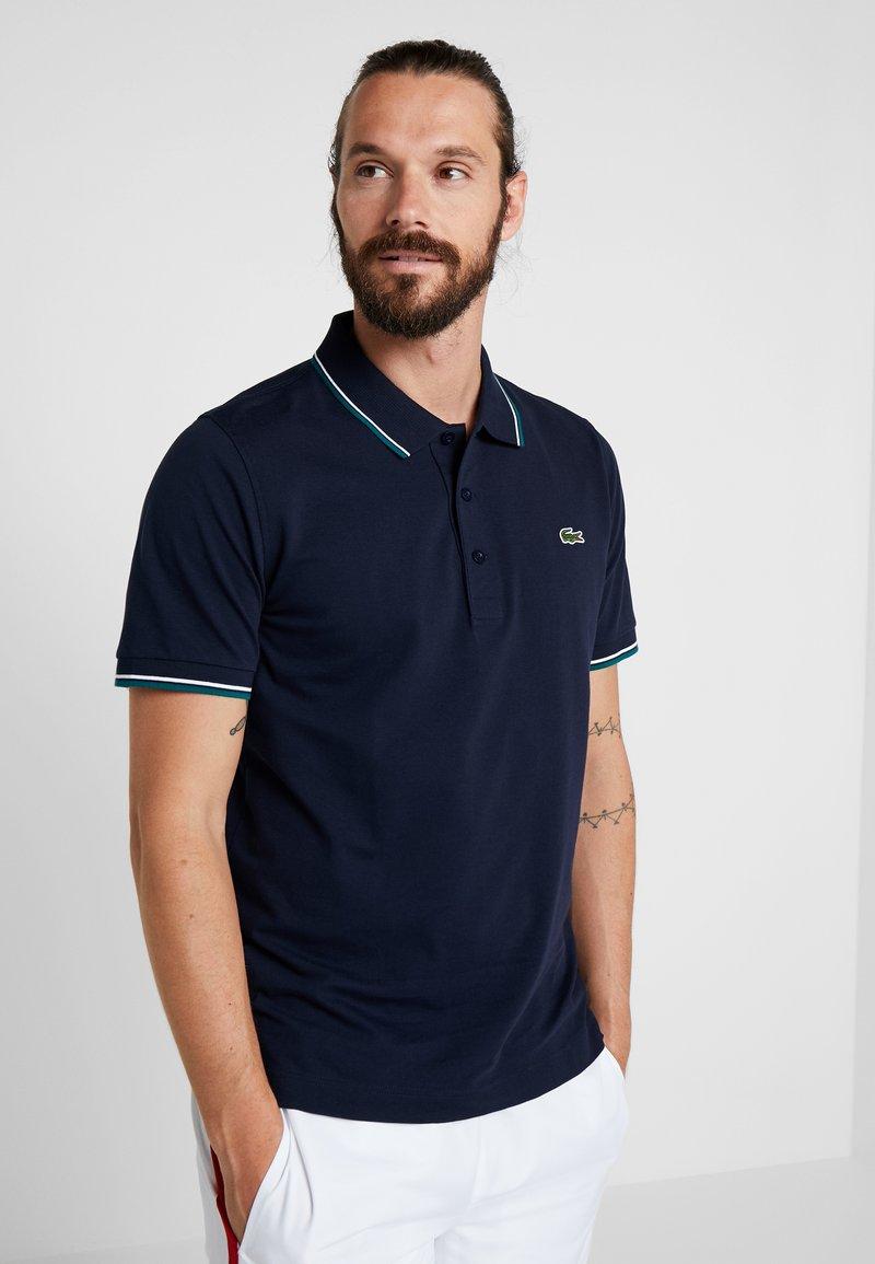 Lacoste Sport - KURZARM - Poloshirt - navy blue/ivy white