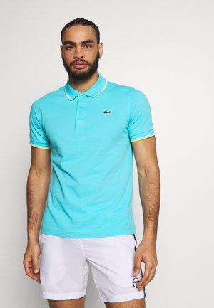 KURZARM - Polo shirt - haiti blue/lemon/white