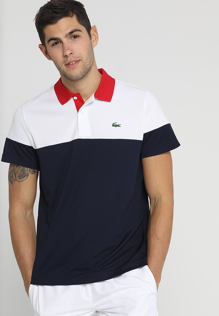 Lacoste Sport - TENNIS - Funktionsshirt - white/navy blue/red