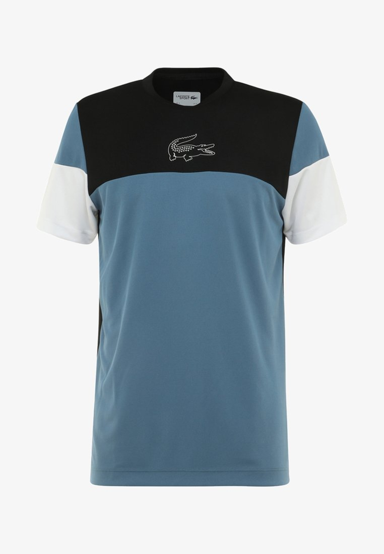 Lacoste Sport - TENNIS BLOCK - Print T-shirt - black/blue/white