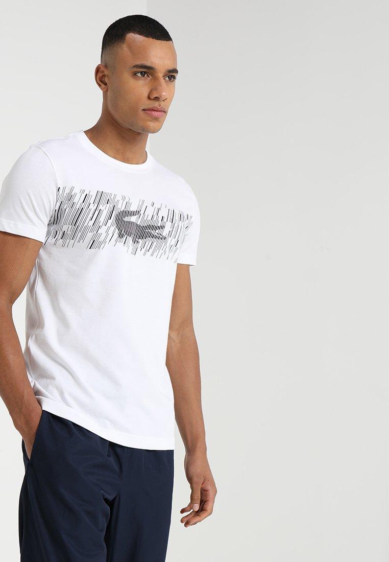 Lacoste Sport - GRAPHIC - Print T-shirt - white/black
