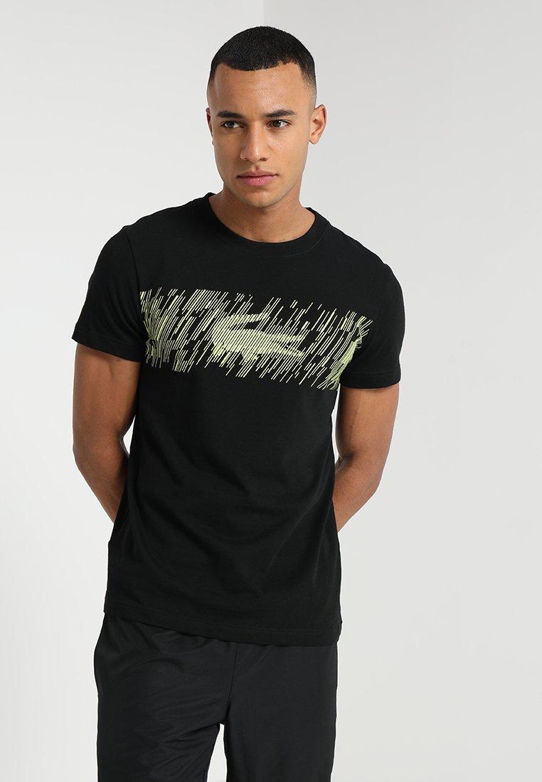 Lacoste Sport - GRAPHIC - T-Shirt print - black/limeira