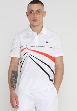 DJOKOVIC ROLAND GARROS - T-shirt sportiva - white/black/mexico red