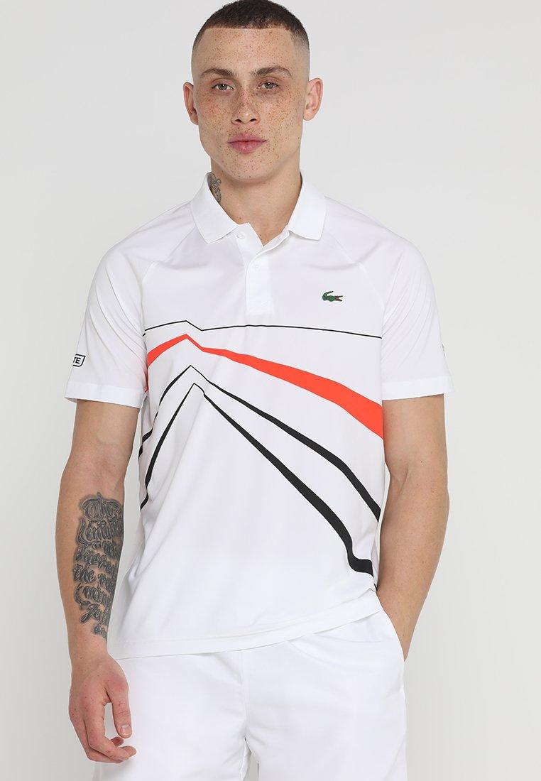 Lacoste Sport - DJOKOVIC ROLAND GARROS - Sports shirt - white/black/mexico red