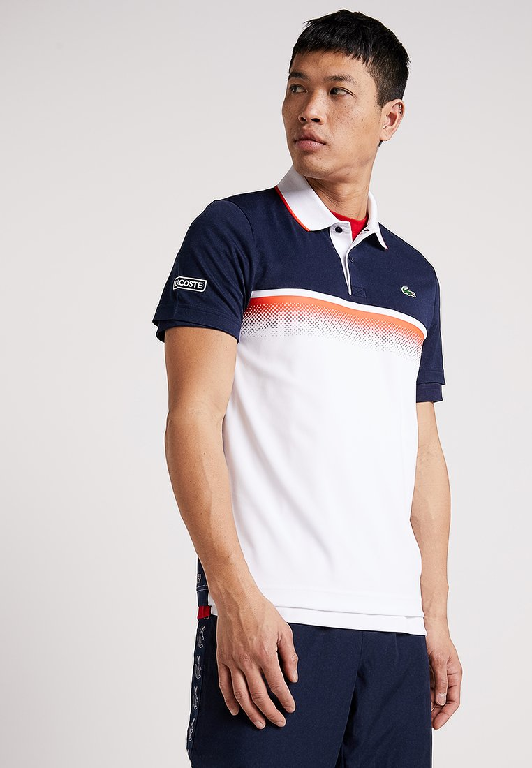 Lacoste Sport - DH3448 - T-shirt de sport - navy blue/white/mexico red