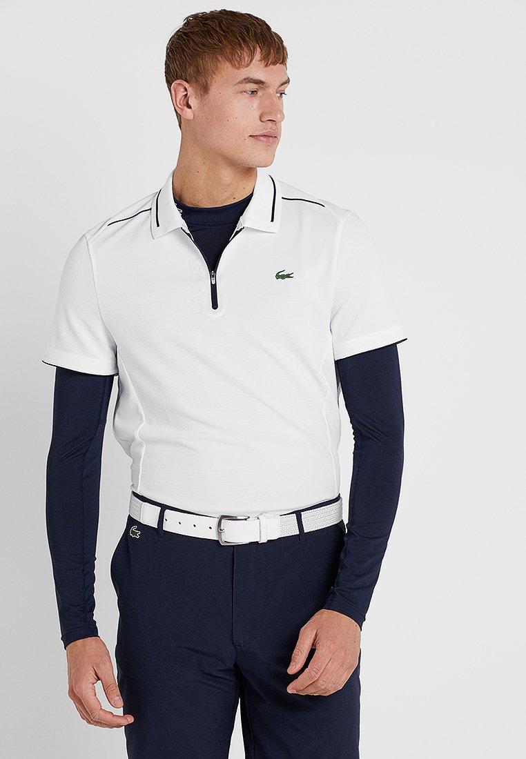 Lacoste Sport - GOLF PERFORMANCE ZIP - Sports shirt - white/navy blue