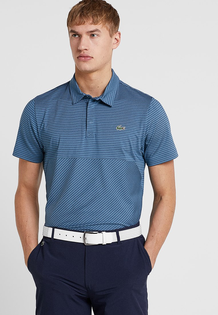 Lacoste Sport - GOLF STRIPES - Polo shirt - neottia/navy blue