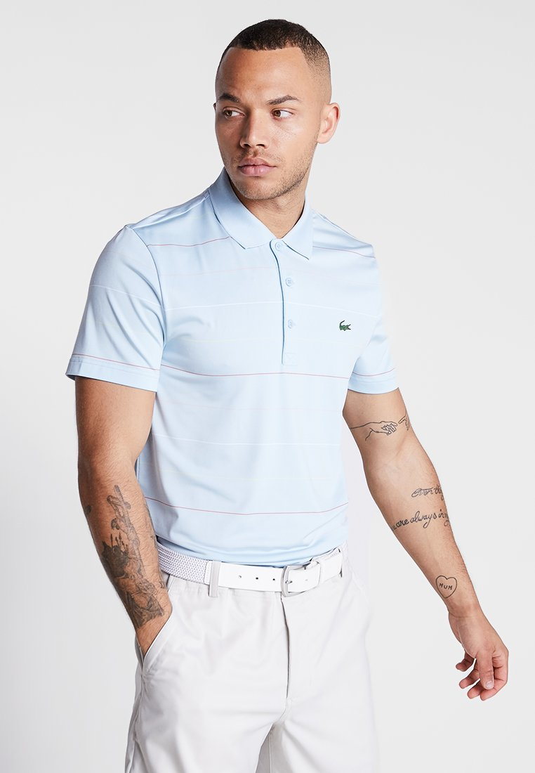 Lacoste Sport - GOLF MODERN STRIPES - Funktionsshirt - dream blue/mango tree red/bagatelle pink/white/sulphur pit