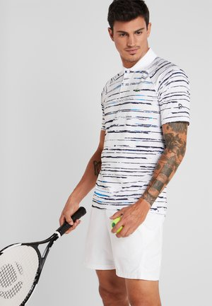TENNIS DJOKOVIC - Funktionsshirt - white/navy blue/nattier blue
