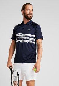 Lacoste Sport - TENNIS POLO DJOKOVIC - Koszulka polo - navy blue/white - 0