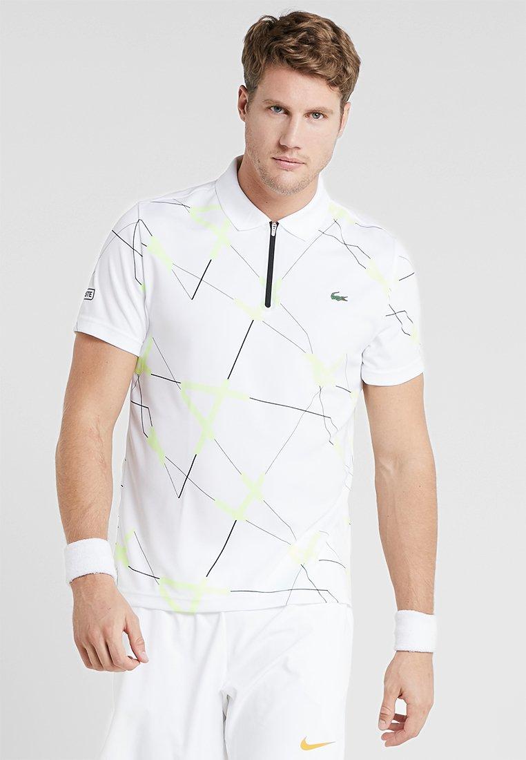 Lacoste Sport - TENNIS GRAPHIC - Polotričko - white