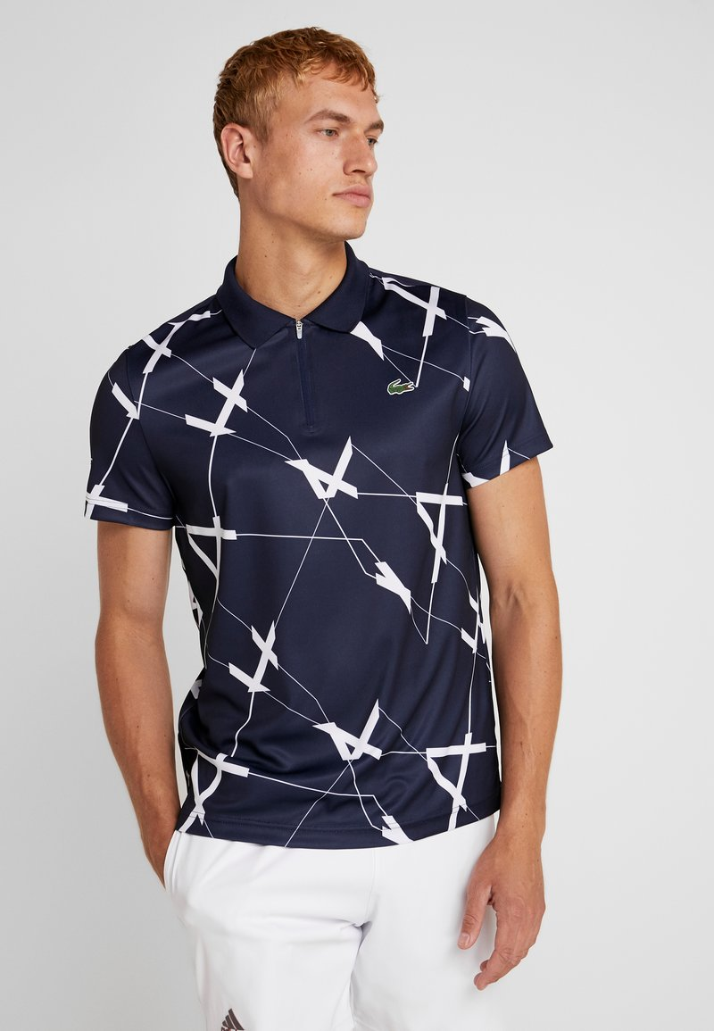 Lacoste Sport - TENNIS GRAPHIC - Koszulka polo - navy blue/white