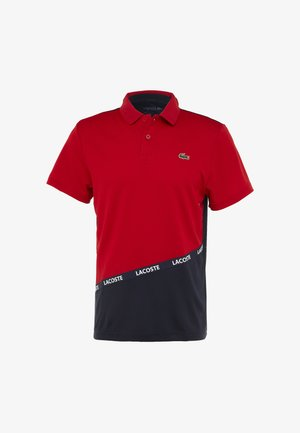 TENNIS TAPERED - Polo - red/navy blue