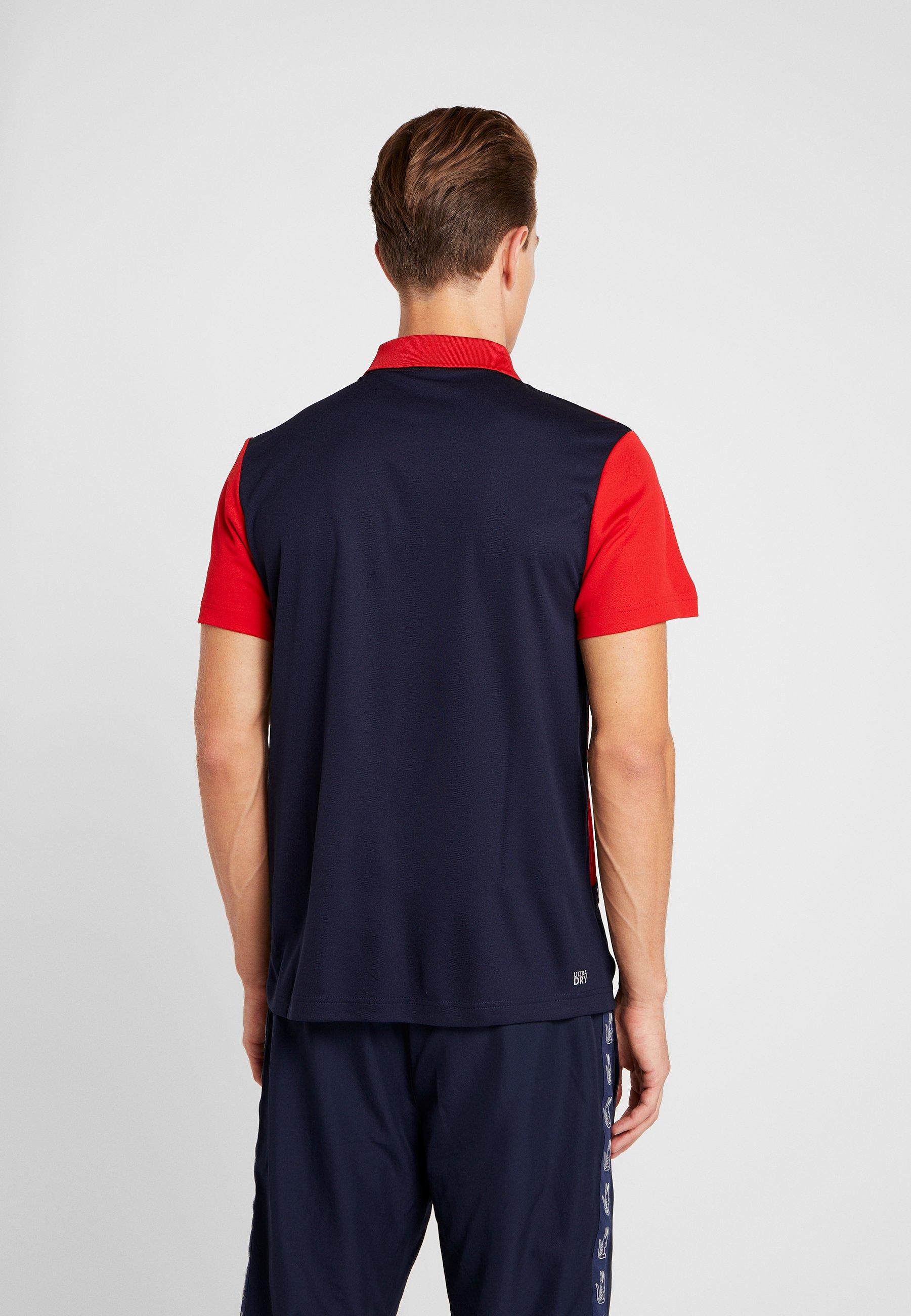 TaperedT Red navy Blue Lacoste Sport Tennis De shirt b6y7fYg