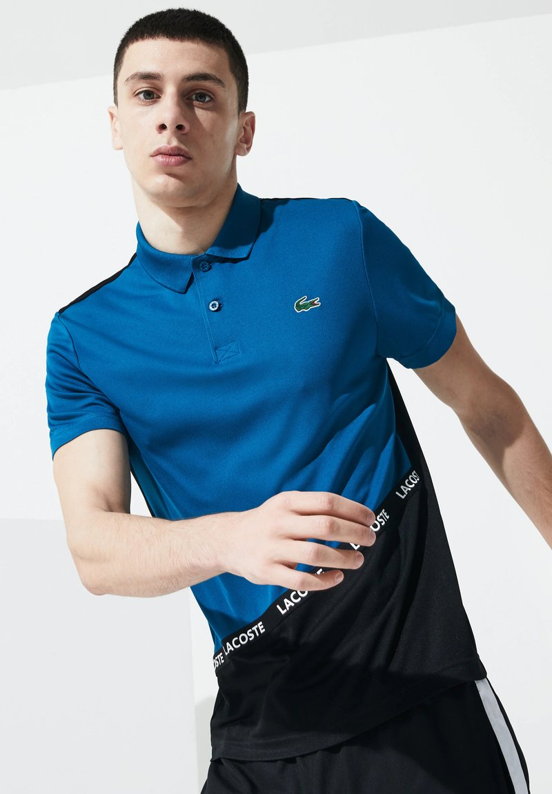 Lacoste Sport - TENNIS TAPERED - Polo - blue/black
