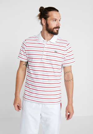STRIPE - Poloskjorter - white/red/navy blue