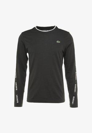 LONGSLEEVE TAPERED - Koszulka sportowa - black/white