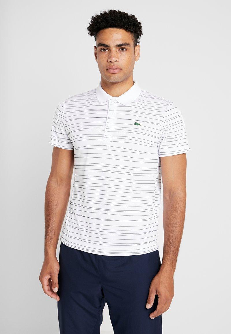 Lacoste Sport - Camiseta de deporte - white/navy blue
