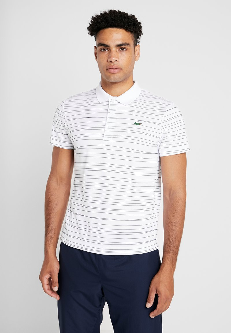 Lacoste Sport - TENNIS - Sports shirt - white/navy blue