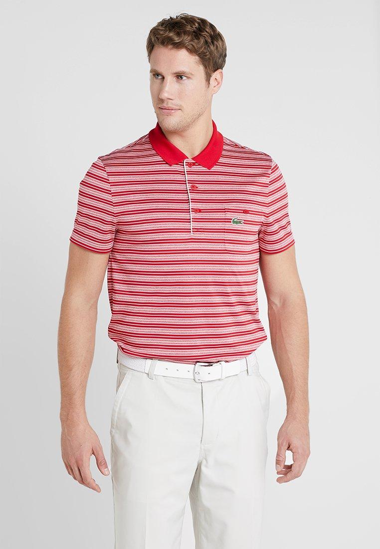 Lacoste Sport - STRIPE - Poloskjorter - tokyo red/white