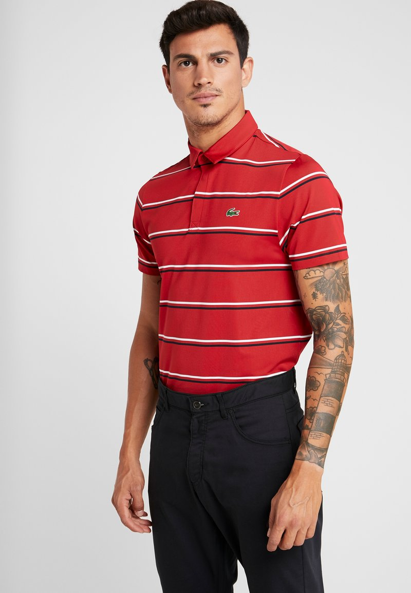 Lacoste Sport - STRIPE - Camiseta de deporte - tokyo red/navy blue/white