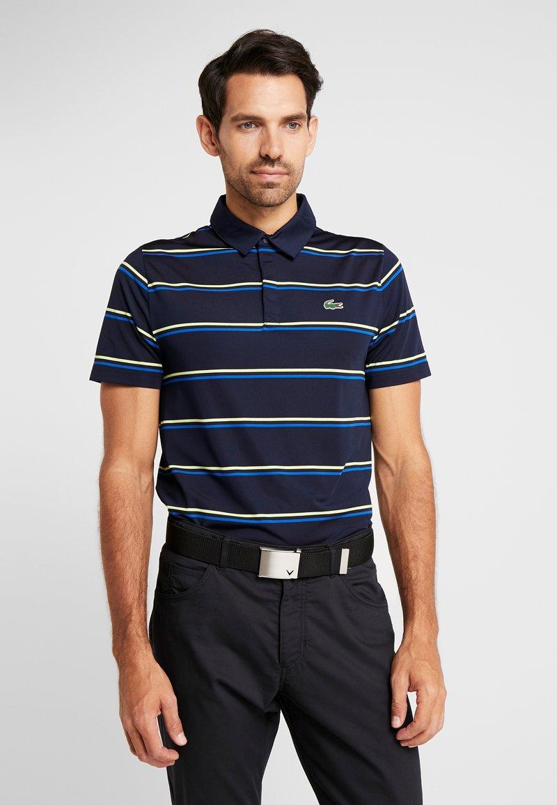 Lacoste Sport - STRIPE - Sports shirt - navy blue/aviator/onagre