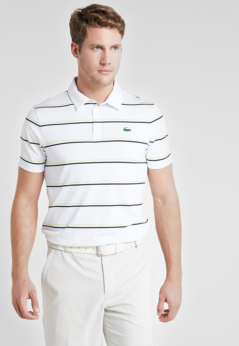 Lacoste Sport - STRIPE - Sports shirt - white/navy blue-onagre