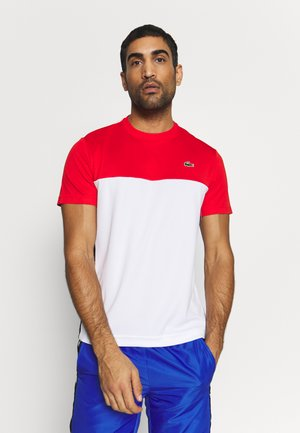 TENNIS BLOCK - Print T-shirt - corrida/white/black