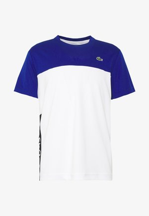 TENNIS BLOCK - Print T-shirt - cosmic/white/black