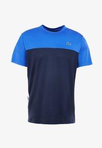 Lacoste Sport - TENNIS BLOCK - T-shirt imprimé - obscurity/navy blue/white - 4