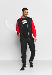 Lacoste Sport - LOGO  - T-Shirt print - black/white - 1