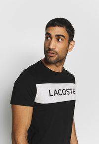 Lacoste Sport - LOGO  - T-Shirt print - black/white - 3
