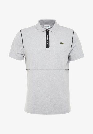 Polo shirt - silver chine/black-white