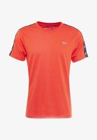 Lacoste Sport - TAPERED - T-shirt print - corrida/black - 4