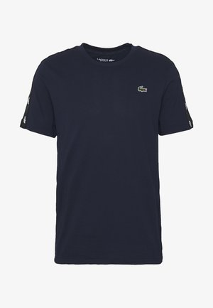 TAPERED - Print T-shirt - navy blue/black