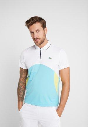 TENNIS  - Sports shirt - white/haiti blue/lemon/navy blue