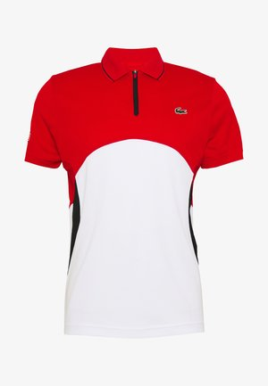 Polo shirt - corrida/white/black