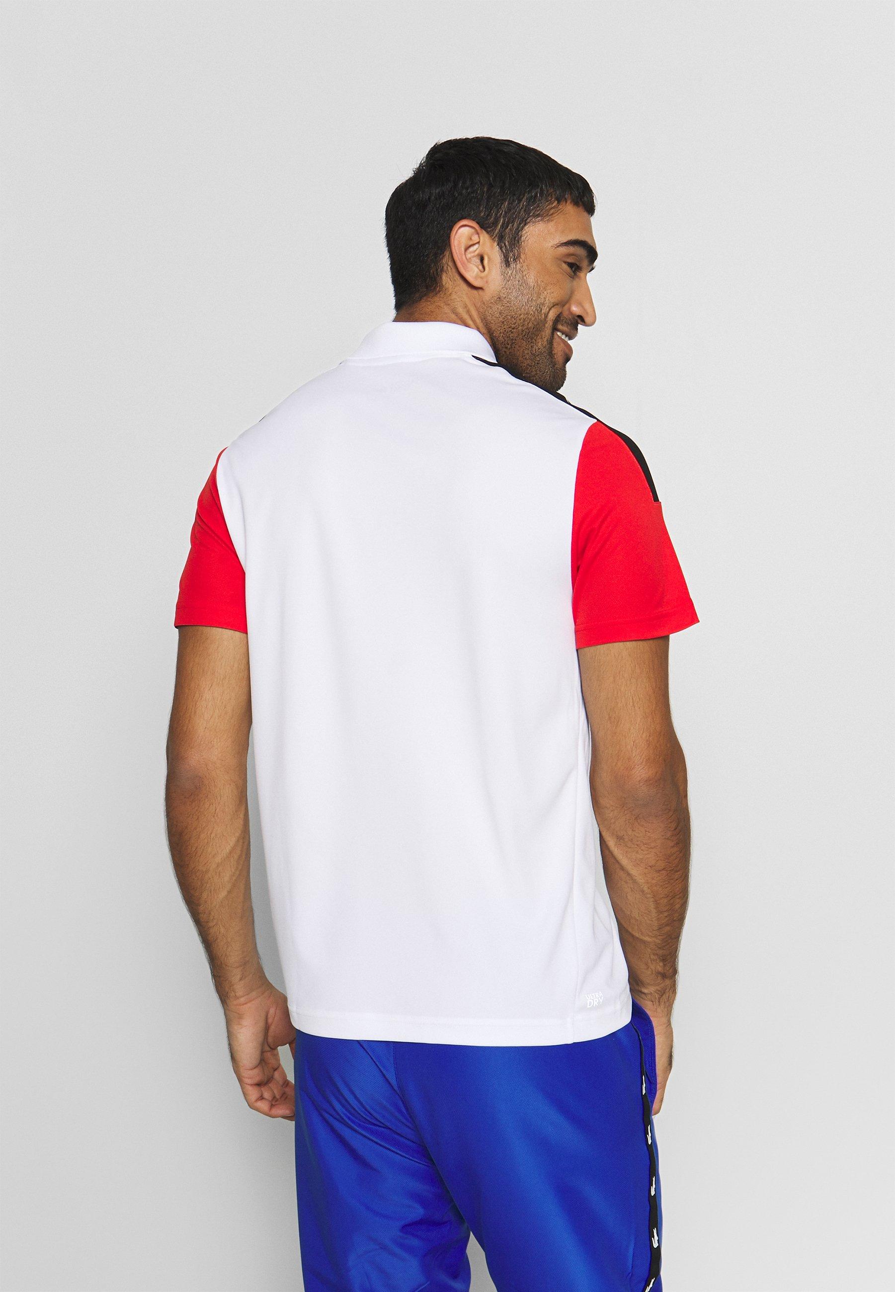 Lacoste Sport TENNIS - Koszulka sportowa - white/corrida black