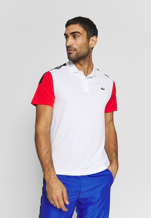 TENNIS - Sports shirt - white/corrida black