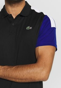 Lacoste Sport - TENNIS - Sports shirt - black/cosmic white - 5