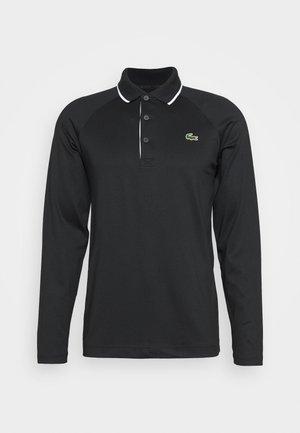 LACOSTE SPORT - HERREN POLO LANGARM - Polo shirt - black/white