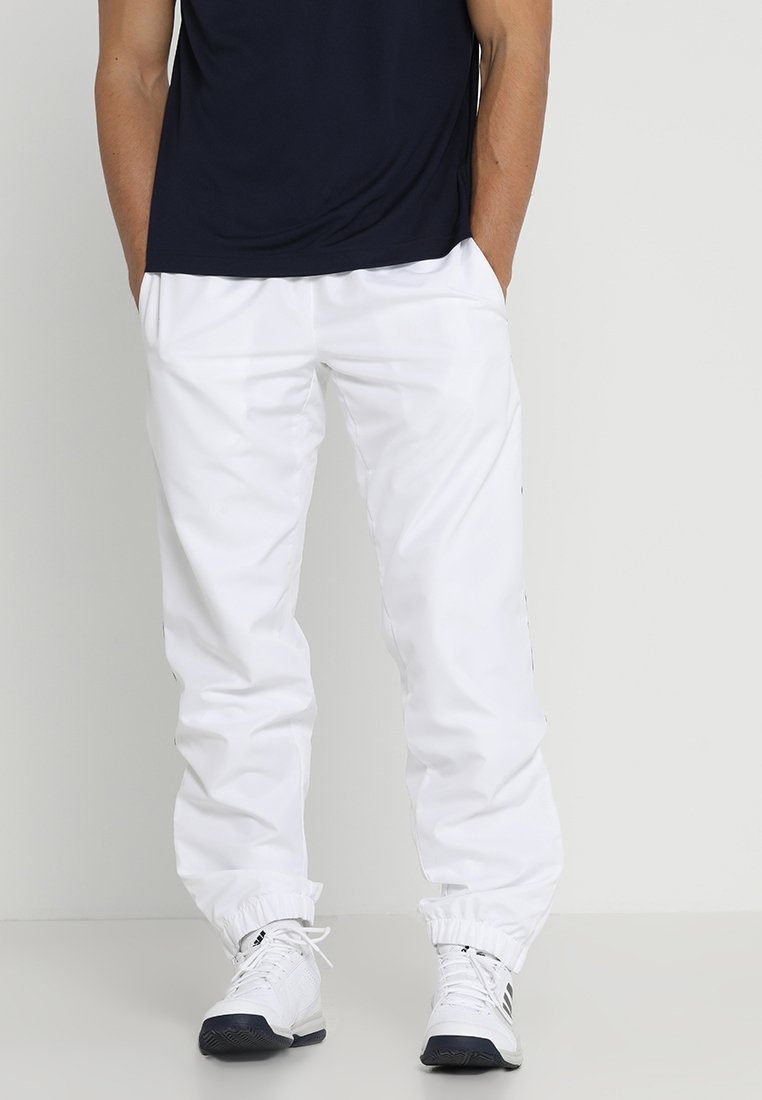 Lacoste Sport - Träningsbyxor - white/navy blue