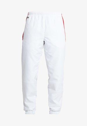 PANT - Jogginghose - white/red/navy blue