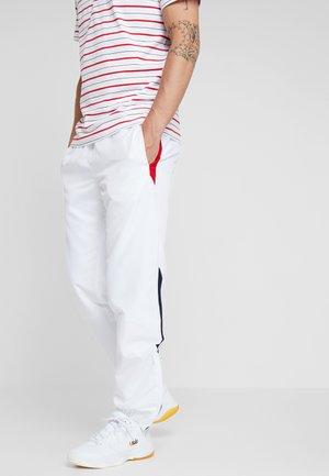 PANT - Trainingsbroek - white/red/navy blue