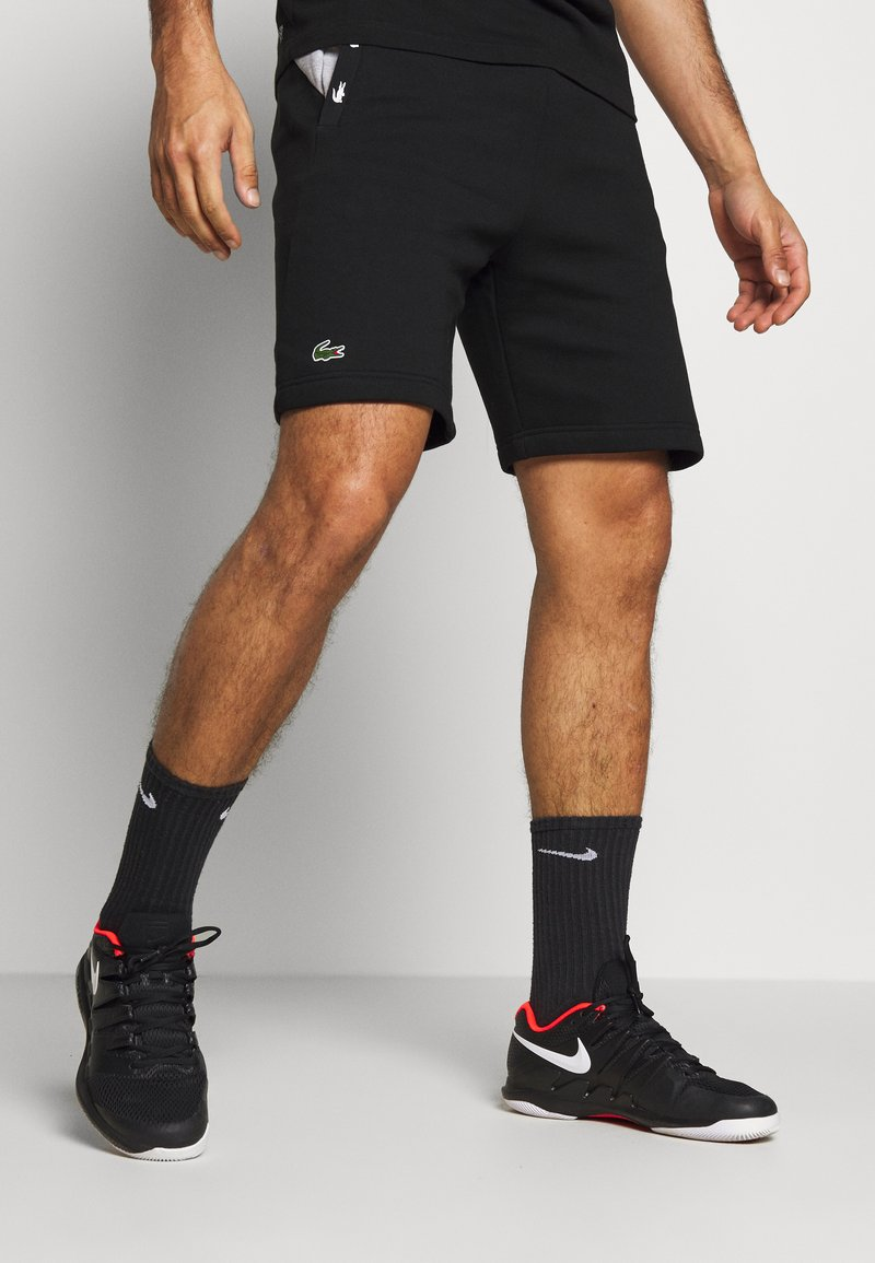 Lacoste Sport - SHORT TAPERED - Sports shorts - black/silver chine