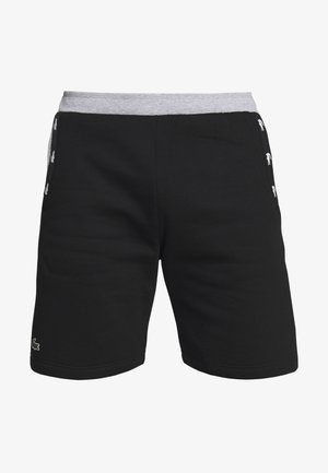 SHORT TAPERED - kurze Sporthose - black/silver chine
