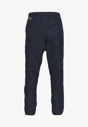 TENNIS PANT - Tracksuit bottoms - navy blue/white/haiti blue